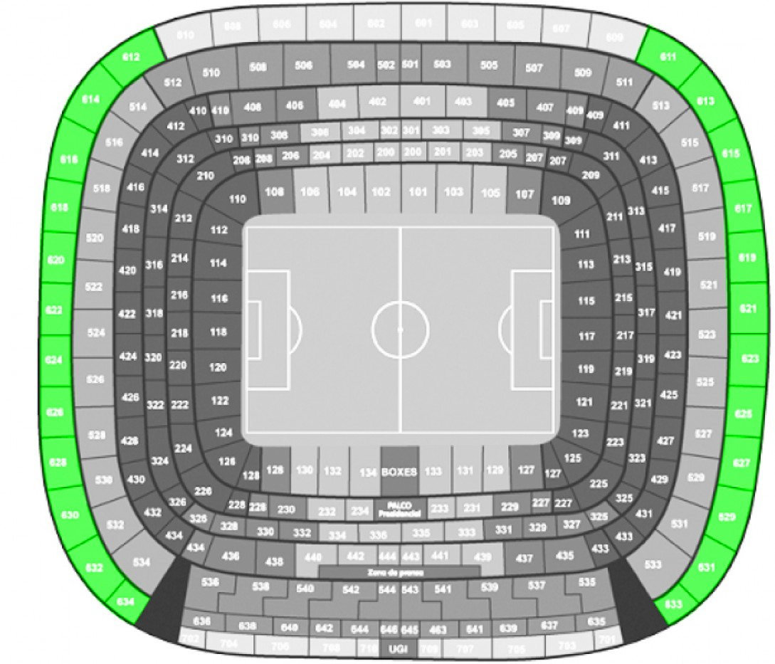 Real Madrid - Eibar - Football. - Shortside Upper Tier