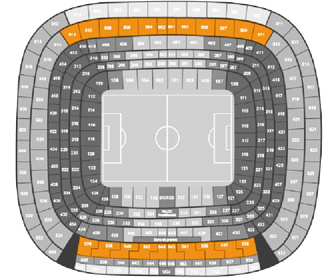 Real Madrid - Eibar - Football. - Longside 3rd Tier (level 500)