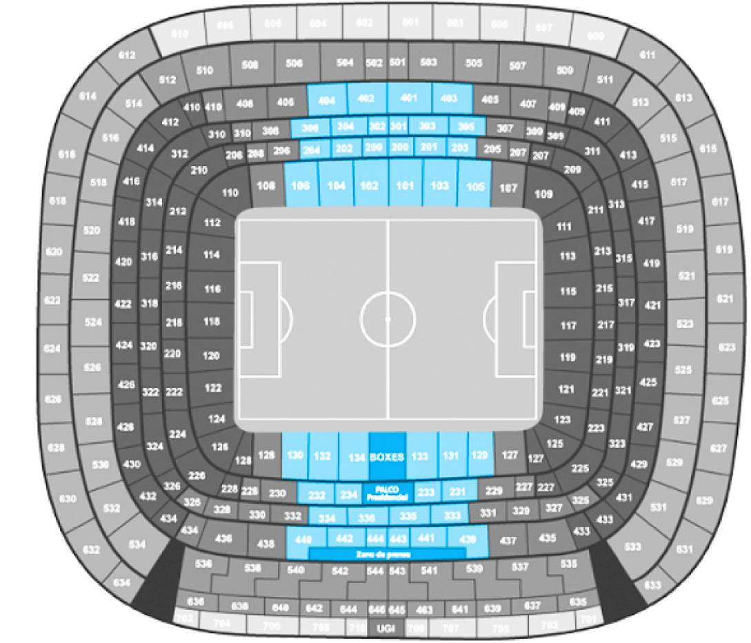 Real Madrid - Eibar - Football. - Longside 1st/2nd Tier Central
