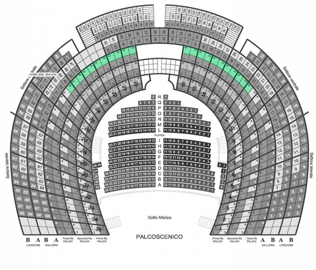 Il Barbiere di Siviglia - Venice, 3 Oct 2020 - Central box - 3rd row - Back seats