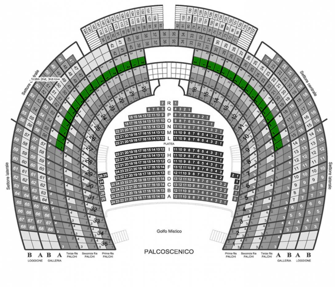 Il Barbiere di Siviglia - Venice, 3 Oct 2020 - Central box - 3rd row - Front seats