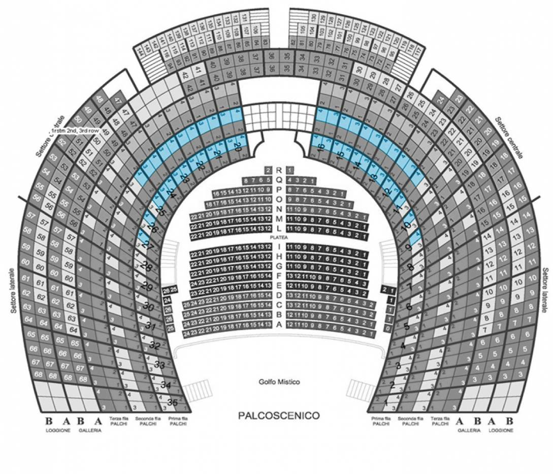 Il Barbiere di Siviglia - Venice, 3 Oct 2020 - Central box - 1st and 2nd row - Back seats