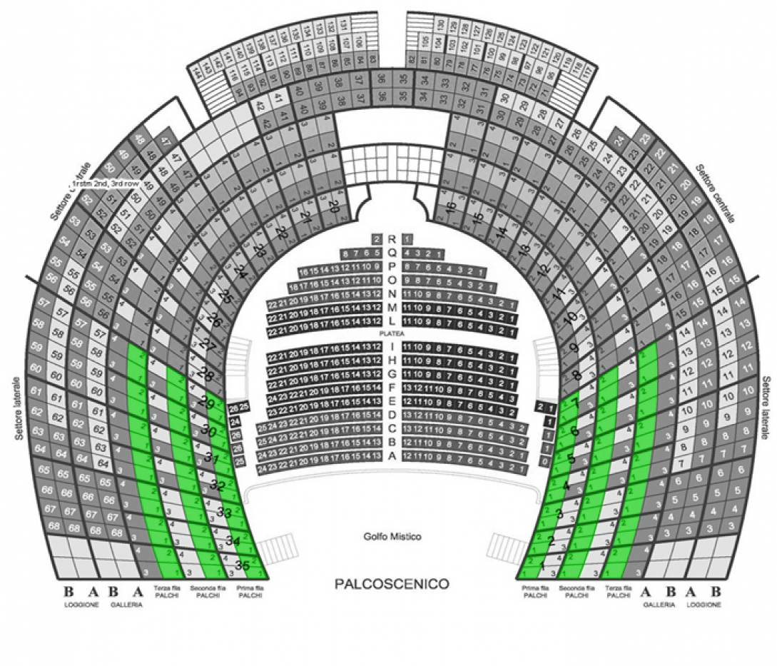 Il Barbiere di Siviglia - Venice, 3 Oct 2020 - Lateral box - 1st 2nd and 3rd row - Front seats